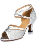 Doris Fashion HW0031A Women's Tango Ballroom Latin Dance Shoes Wedding Shoes Evening Shoes