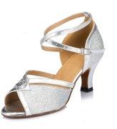 Doris Fashion HW0031A Women's Tango Ballroom Latin Dance Shoes Wedding Shoes Evening Shoes