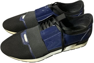 Balenciaga Race Blue Patent leather Trainers