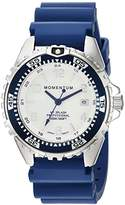 Momentum Women's Quartz Stainless Steel and Rubber Diving Watch, Color:Blue (Model: 1M-DN11LU1U)