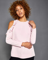 Ted Baker Cold shoulder ruffle top