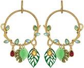Betsey Johnson Tropical Vine Leaves Gypsy Hoop Earrings Earring