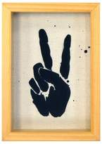 New View Peace Hands Framed wall poster print