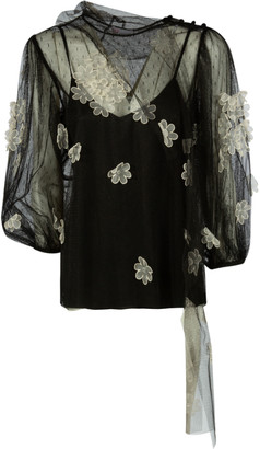 RED Valentino Floral Applique Blouse