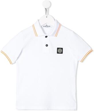 Stone Island Junior Short Sleeve Logo Patch Polo Shirt