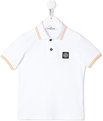 Stone Island Junior short sleeve logo patch polo shirt