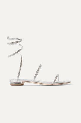 Rene Caovilla Cleo Crystal-embellished Metallic Leather Sandals