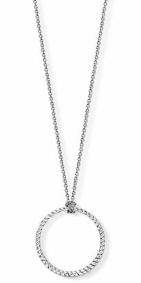 Thomas Sabo Women Men-Charm-Necklace circle Charm Club 925 Sterling silver X0251-637-21-L90