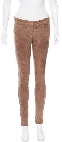 Closed Mid-Rise Suede Pants