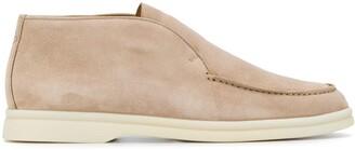 Loro Piana Stitched Flat Loafers
