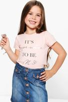 Boohoo Girls Slogan Tee