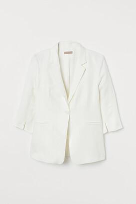 H&M H&M+ Linen-blend Jacket