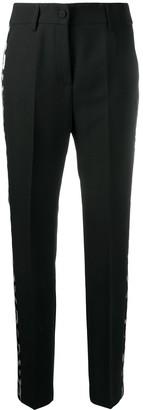 Blumarine Animal Stripe Tailored Trousers