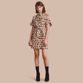 Burberry Pallas Heads Print Stretch Cotton Shirt Dress