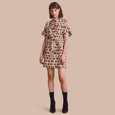 Burberry Pallas Heads Print Stretch Cotton Shirt Dress