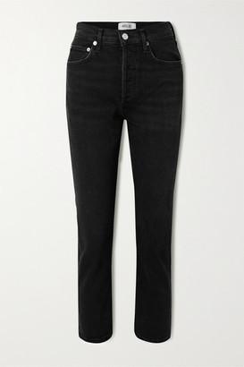 AGOLDE Riley High-rise Straight-leg Jeans - Black