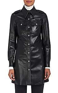 Calvin Klein Women's Leather Button-Front Tunic - Black
