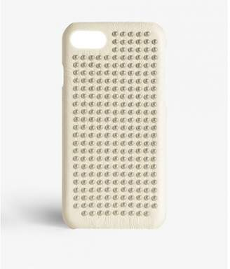 Factory The Case Iphone 7-8 Borchie Nappa Ivory Silver Studs