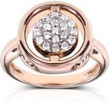 Kobelli Jewelry Kobelli 5/9 CT TW Black and White Diamond 14K Rose Gold Reversible Cluster Ring