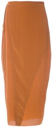 OSKLEN Silk Wrap Skirt