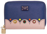 Dolce & Gabbana Blue Small Zip Around Wallet