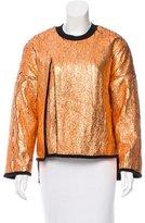 3.1 Phillip Lim Cutaway Metallic Pullover Sweatshirt w/ Tags