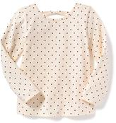 Old Navy Lattice-Back Scoop-Neck Tee for Toddler Girls