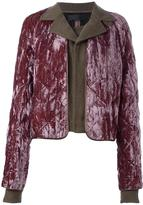 Haider Ackermann quilted overlay cropped jacket