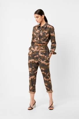 French Connenction Carri Camo Boilersuit
