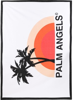 Palm Angels cotton beach towel