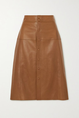 Saint Laurent Leather Skirt - Brown