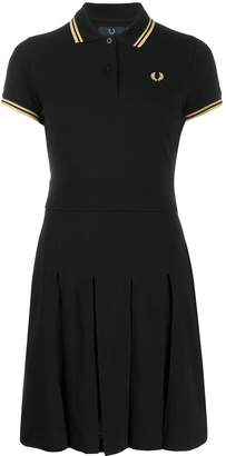 Fred Perry embroidered logo polo dress