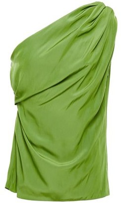 Lanvin One-shoulder Gathered Draped Cady Top