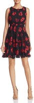 Kate Spade Poppy Silk Tiered Mini Dress