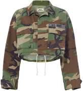 Royal Workshop Janet Lapis Cropped Camo Jacket