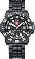 Luminox 44mm Navy SEAL 3050 Series Colormark Watch, Black/White