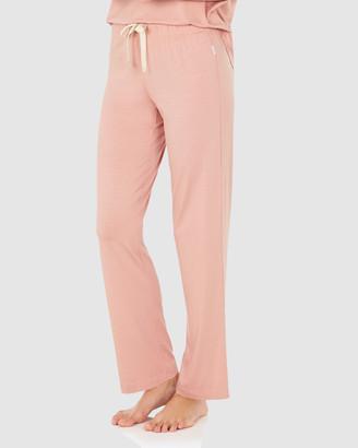 Boody Organic Bamboo Eco Wear Goodnight Sleep Pants - Dusty Pink