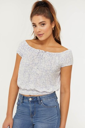 Ardene Floral Peasant Top