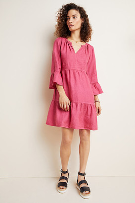 Velvet by Graham & Spencer Aurora Linen Tiered Tunic By in Pink Size XS