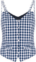Facetasm gingham top