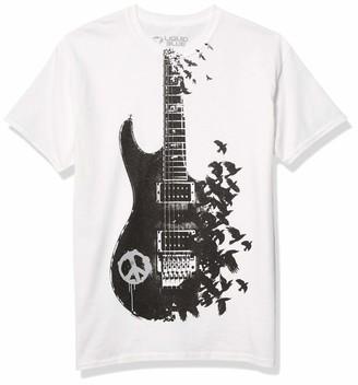 Liquid Blue Men's Crow Guitar T-Shirt