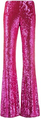 P.A.R.O.S.H. flared sequinned trousers