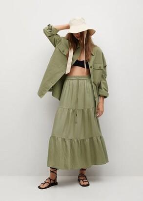MANGO Midi ruffles skirt