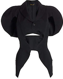 Comme des Garcons Women's Cut-Out Puff Shoulder Blazer
