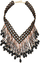 Nakamol Beaded Statement Fringe Necklace