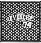 Givenchy Printed Silk-twill Scarf 50x50 - Black