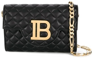 Balmain quilted leather Bbag cross-body