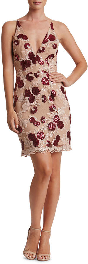 Dress the Population Natalie Rose-Embroidered Cocktail Dress