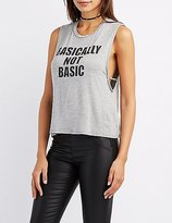 Charlotte Russe Basically Not Basic Tank Top