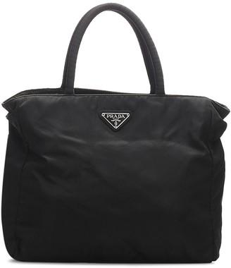 Prada Pre-Owned Triangle Logo Plaque Tote Bag
